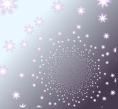 Elegant kaleidoscope background with abstract blooms Royalty Free Stock Images