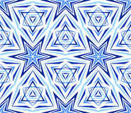 Elegant Kaleidoscope Star Pattern Blue Stock Images
