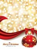Elegant Kerstmisontwerp Stock Afbeelding