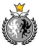 Elegant king emblem Stock Photos