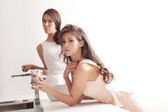 Elegant in kitchen Stock Photography