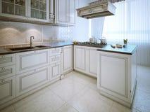 Elegant kitchen classic style Stock Photos