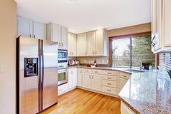 Elegant kitchen interior with granite tops Stock Photography