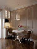 Elegant klassiek keuken binnenlands ontwerp Stock Afbeeldingen