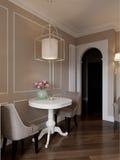 Elegant klassiek keuken binnenlands ontwerp Stock Afbeelding