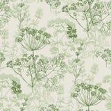 Elegant klassiek kruiden naadloos patroon vector illustratie