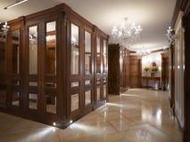 Elegant klassieke en luxueuze zaal binnenlands ontwerp Royalty-vrije Stock Afbeeldingen