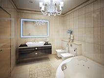 Elegant klassiskt badrum Royaltyfri Foto