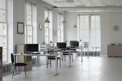 Elegant kontorsinre Blandat massmedia Royaltyfri Fotografi