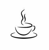 Elegant kopp med ett varmt kaffe Fotografering för Bildbyråer