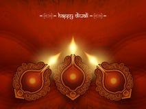 Elegant kortdesign för röd färg för diwalifestival Arkivbilder