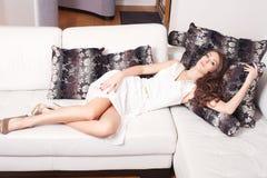 Elegant kvinna Royaltyfria Bilder