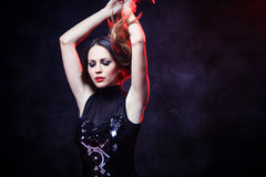 Elegant kvinna arkivfoton
