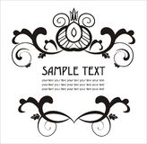 Elegant label easy to modify. Vector ornamental label  to place your art or text Royalty Free Stock Photography