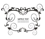 Elegant label easy to modify. Vector ornamental label  to place your art or text Royalty Free Stock Image
