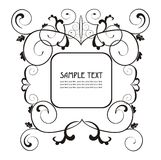 Elegant label easy to modify. Vector label  to place your art or text Royalty Free Stock Photography