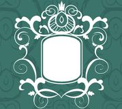 Elegant label to place your art or text. Vector draw of an art abckground with ornate label Royalty Free Stock Images