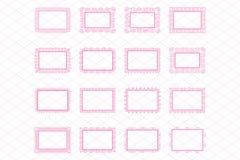 Elegant Lace Border Frames laser cut Picture Frames Royalty Free Stock Image