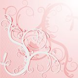 Elegant lace card or invitation. Royalty Free Stock Images
