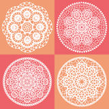 Elegant Lace Doily Backgrounds Royalty Free Stock Photo