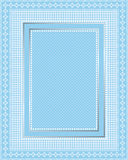 Elegant Lace Frame. This is a  illustration of an elegant lacy blue frame. Great boarder design. Great for stationary and scrapbooking Royalty Free Stock Photo