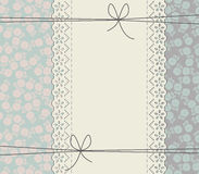 Elegant lace frame with roses Royalty Free Stock Photography