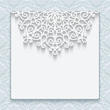 Elegant lace greeting card vector illustration