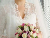 Elegant Lace Neckline Stock Photo
