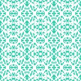 Elegant lace pattern with white lines on aqua blue Stock Photo