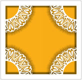 Elegant lace square frame for a photo card, wedding invitation o Royalty Free Stock Photo