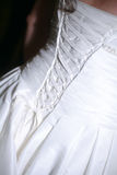 Elegant Lace-up Bridal Gown stock photo