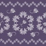 Elegant lace vector pattern Royalty Free Stock Images