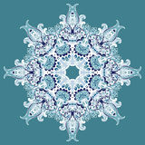 Elegant Lace Vector Winter Snowflake Stock Photo