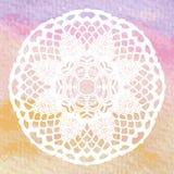 Elegant lacy doily. Crochet mandala. Stock Image
