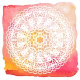 Elegant lacy doily. Crochet mandala. Stock Images