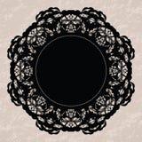 Elegant lacy doily Stock Image