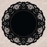 Elegant lacy doily Royalty Free Stock Photos