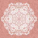 Elegant lacy doily. Vector snowflake. Stock Images