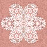 Elegant lacy doily. Vector snowflake. Royalty Free Stock Photography