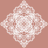 Elegant lacy doily. Vector snowflake. Stock Photos