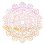 Elegant lacy watercolor doily. Crochet mandala. Stock Images