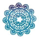 Elegant lacy watercolor doily. Crochet mandala. Vector template. Invitation card. Crochet mandala. Beautiful vector doily for digital scrapbooking Royalty Free Stock Image