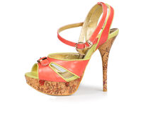 Elegant ladies open-toed sandal Royalty Free Stock Photos