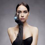 elegant lady Arkivbild