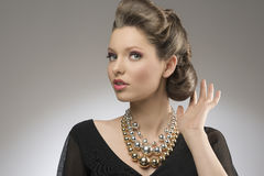 Elegant lady with creative hair-style Stock Image