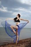 Elegant lady dancing Royalty Free Stock Images