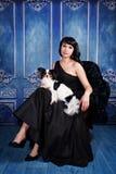 Elegant lady with a dog Royalty Free Stock Photo