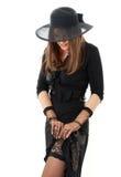 Elegant lady dressing up over Royalty Free Stock Images