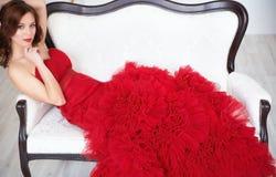Elegant lady. Fashion beautiful sensual brunette  woman with mak Royalty Free Stock Image
