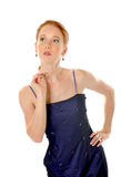 Elegant Lady with pearls Royalty Free Stock Photography
